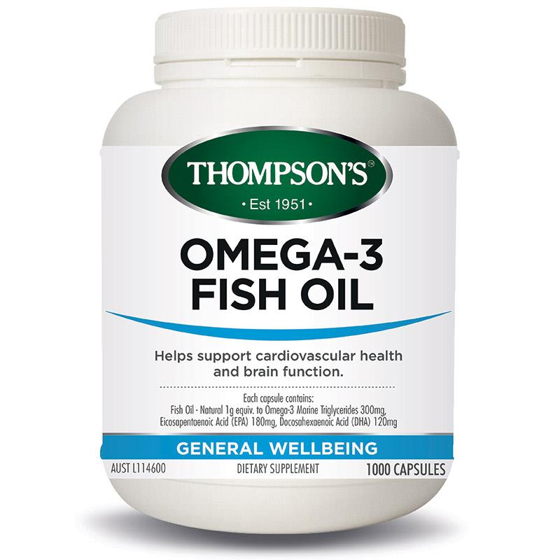 Buy thompson 39 s omega 3 fish oil 1000 capsules online at for Is omega 3 the same as fish oil