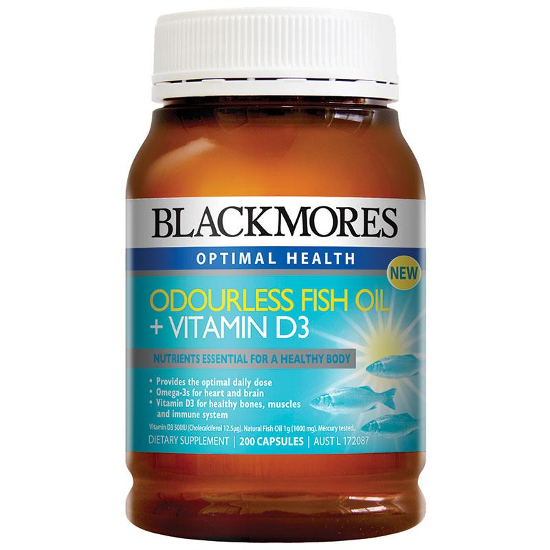 Buy blackmores odourless fish oil vitamin d3 200 for Fish oil with vitamin d