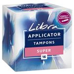 Libra Tampons Super 16 With Applicator