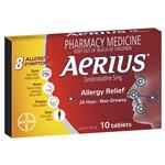 Aerius 24 Hour Non Drowsy Allergy Relief Antihistamine Tablets 10 pack