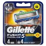 Gillette Fusion ProGlide Power Blades Refill Cartridges 4 Pack