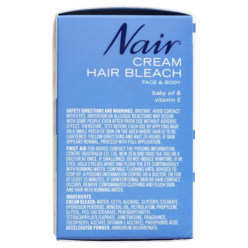 Buy Nair Cream Bleach for Face & Body 28g + 7g Online at