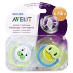Avent Soother Animal 6-18months BPA Free 2 Pack
