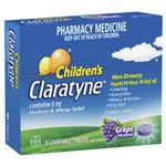 Claratyne Children's Hayfever & Allergy Relief Antihistamine Grape Flavoured Chewable Tablets 10 pack