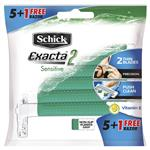 Schick Exacta2 Sensitive 5+1 Disposable Razors