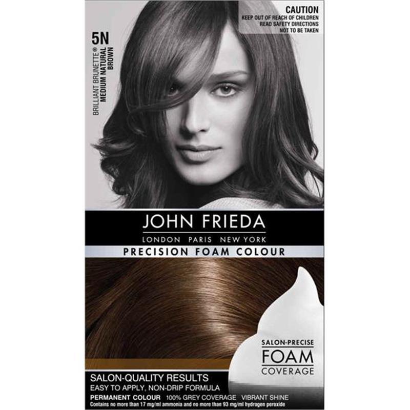 Buy John Frieda Precision Foam Colour 5n Medium Natural Brown Online