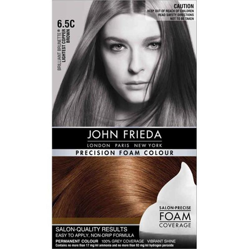 Buy John Frieda Precision Foam Colour 65c Lightest Copper Brown