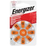 Energizer EZ13 Turn & Lock Hearing Aid Batteries 8 Pack