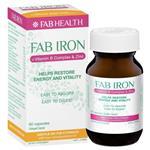 Fab Iron + Vit B + Zinc 60 Caps