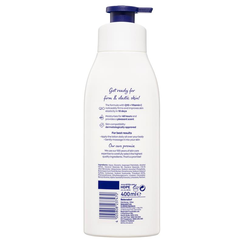 Buy Nivea Body Firming Lotion Q10 Plus 400ml Online At Chemist Warehouse
