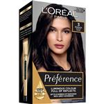 L'Oreal Paris Preference Permanent Hair Colour - 3 Brasilia (Intense, fade-defying colour)