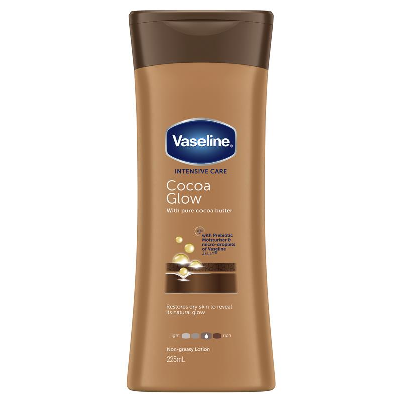 Vaseline Intensive Care Body Lotion Cocoa Glow 225ml at Chemist Warehouse in Campbellfield, VIC | Tuggl