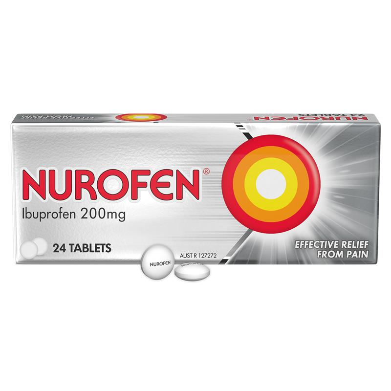 Nurofen Tablets Pain Relief 200mg Ibuprofen 24 Pack at Chemist Warehouse in Campbellfield, VIC | Tuggl