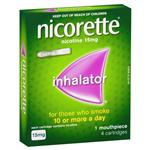 Nicorette Quit Smoking Inhalator 1 Mouthpiece 4 Cartridges 15mg