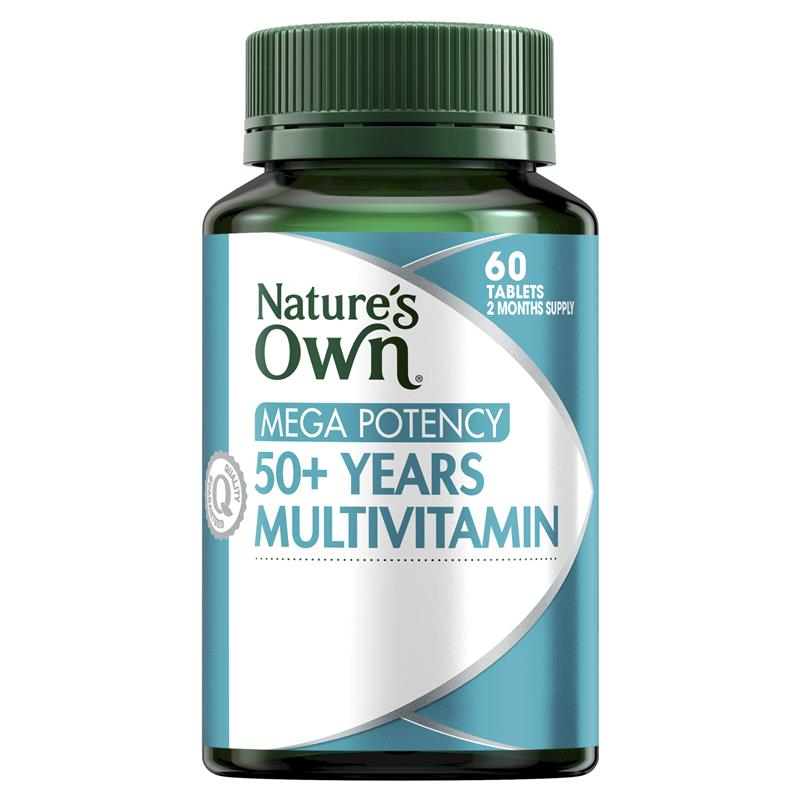 Nature's Own 50+ Years Multivitamin Mega Potency 60 Tablets at Chemist Warehouse in Campbellfield, VIC | Tuggl
