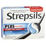 Strepsils Plus Sore Throat Lozenges Pain Relief Numbing 36 Pack