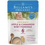 Bellamys Organic Apple Cinnamon Baby Porridge 125g