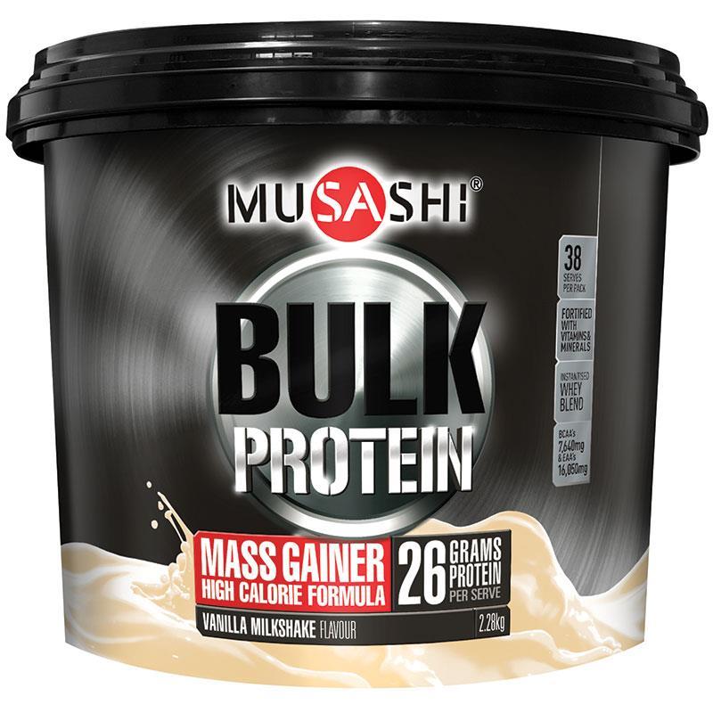 Musashi Bulk Mass Gain 2.28kg Vanilla at Chemist Warehouse in Campbellfield, VIC   Tuggl