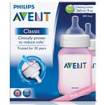 Avent Bottle Pink 260ml 2 Pack