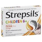 Strepsils Children 6+ Orange 16 Lozenges