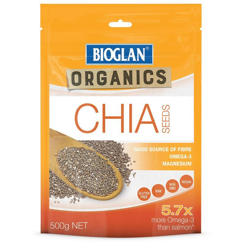 Bioglan Organic Chia Seeds 500g at Chemist Warehouse in Campbellfield, VIC | Tuggl