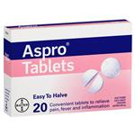 Aspro Clear Pain Relief 20 Tablets