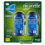 Nicorette Quit Smoking Cooldrops Lozenges Extra Strength Icy Mint 4mg 80 Pieces