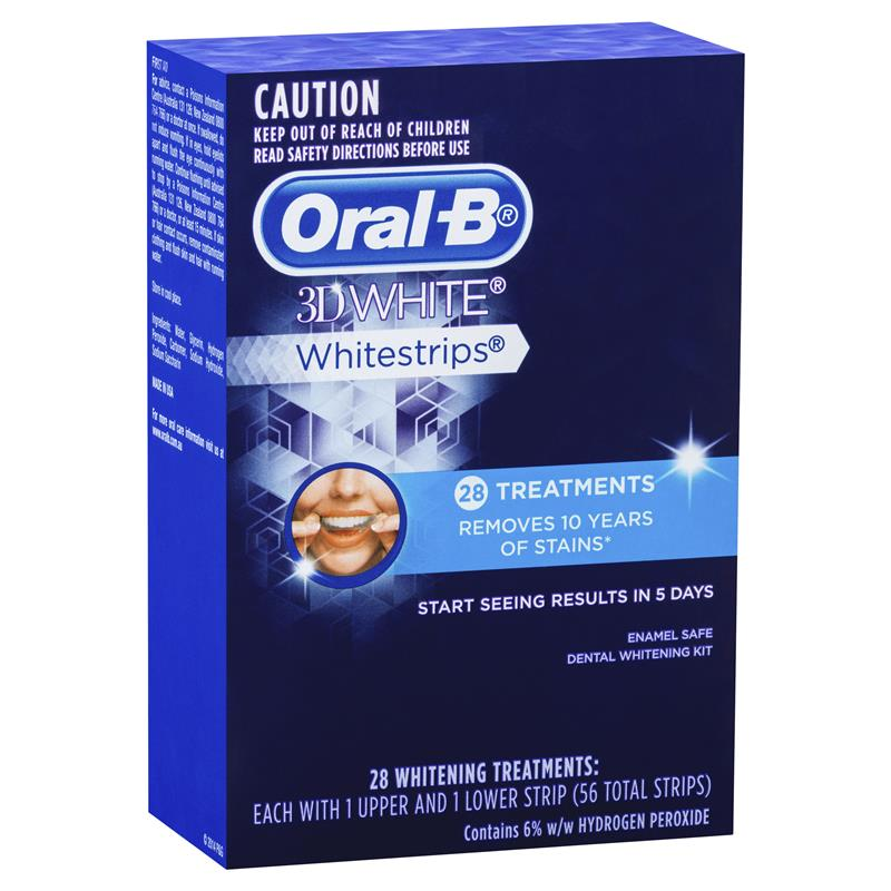 buy oral b 3d white whitestrips 28 whitening treatments. Black Bedroom Furniture Sets. Home Design Ideas