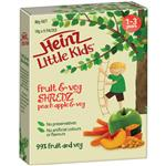 Heinz Little Kids Shredz Peaches Apple Veg 5 Pack