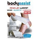 BodyAssist Elastic Ankle Wrap/Anchor Beige