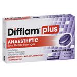 Difflam PLUS Lozenges Blackcurrant 16