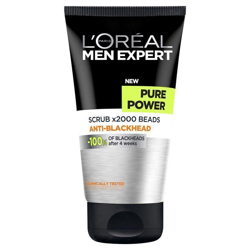 buy l 39 oreal men expert pure power scrub 150ml online at chemist warehouse. Black Bedroom Furniture Sets. Home Design Ideas