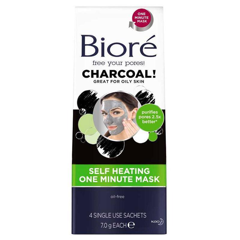 Buy Biore Charcoal Self Heating One Minute Mask 4 Pack
