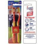 AFL Toothbrush Gold Coast Suns Twin Pack