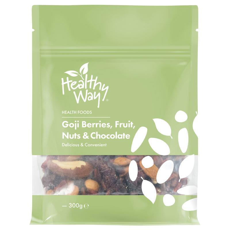 Healthy Way Goji Berries Fruit Nuts & Chocolate 300g at Chemist Warehouse in Campbellfield, VIC | Tuggl