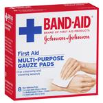 Band-Aid First Aid Multi-Purpose Gauze Pads 8 Pack