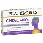 Blackmores Ginkgo 6000mg 30 Tablets
