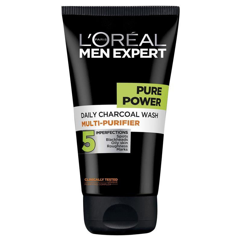 buy l 39 oreal men expert pure power charcoal wash 150ml online at chemist warehouse. Black Bedroom Furniture Sets. Home Design Ideas
