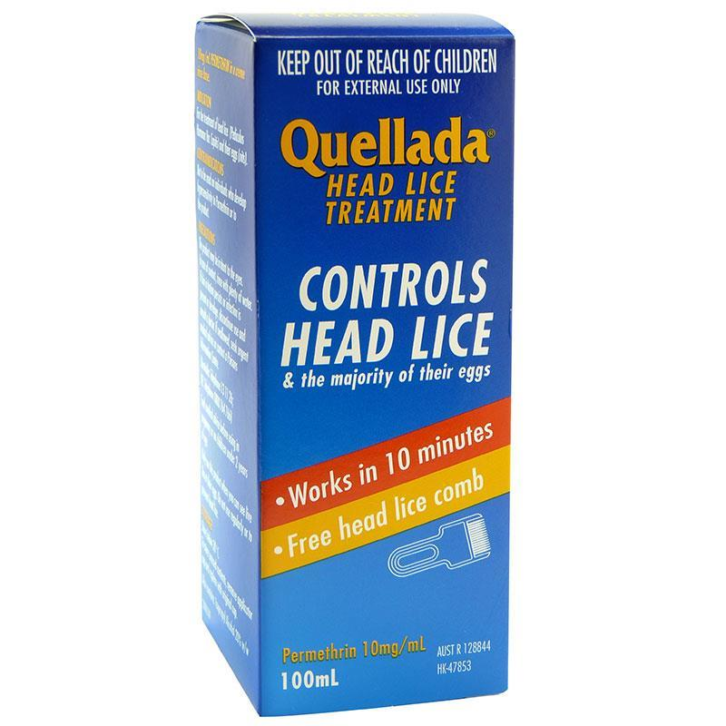 buy quellada head lice treatment 100ml online at chemist warehouse®, Skeleton