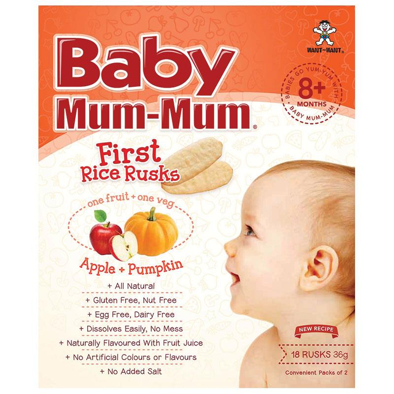 Buy Baby Mum-Mum Rice Rusks Apple & Pumpkin Flavour 36g