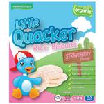 Little Quacker Rice Biscuits Strawberry Flavour 40g
