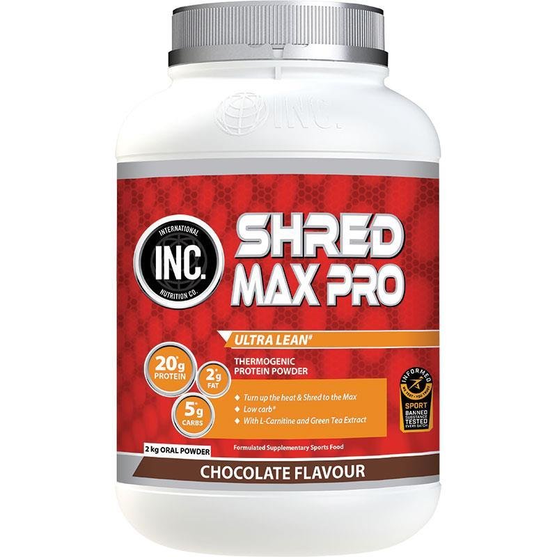 INC Shred Max Pro Chocolate Flavour 2kg | Tuggl