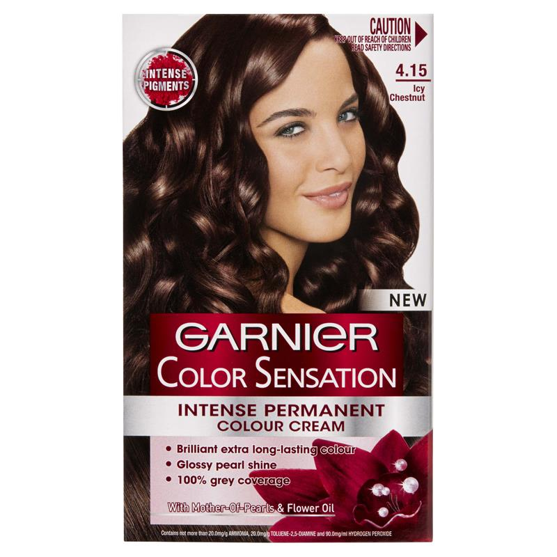 garnier color sensation 415 icy chesnut - Colores Garnier