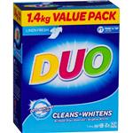 Duo Laundry Powder Cleans & Whitens 1.4kg