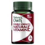Nature's Own Double Strength Natural Vitamin E 1000IU 50 Capsules