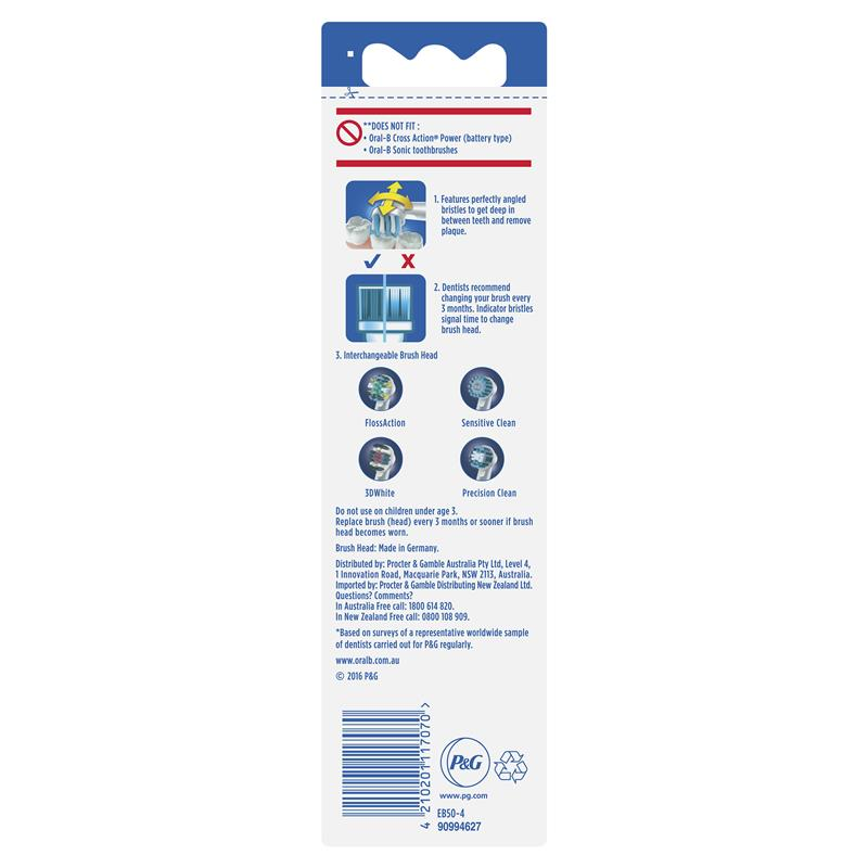 Buy Oral-B CrossAction Electric Toothbrush Heads Refill 4 pack