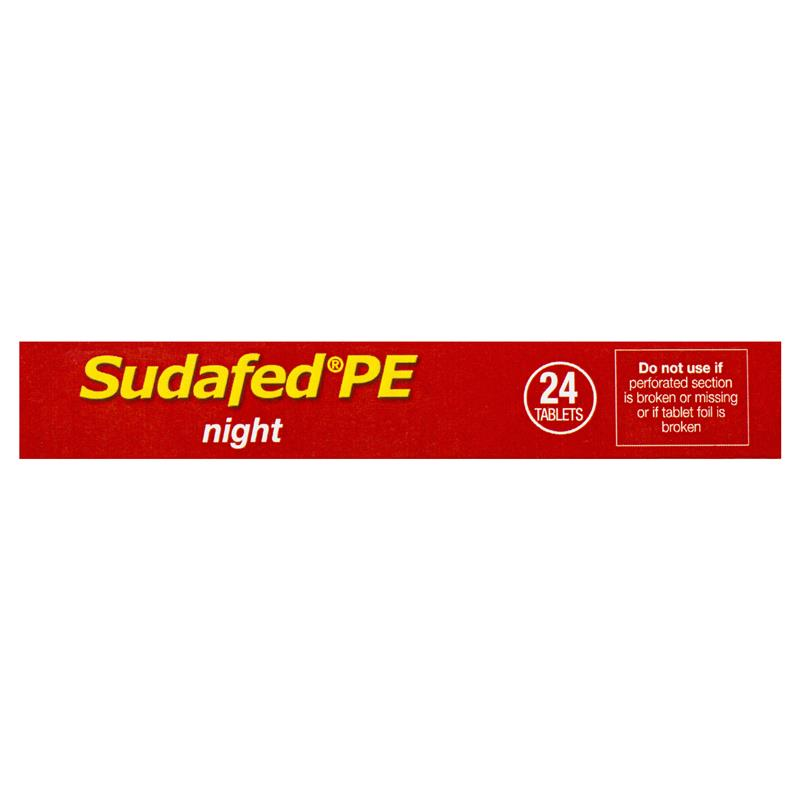 Buy Sudafed PE Night 24 Online At Chemist Warehouse®
