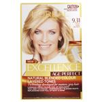 L'Oreal Paris Excellence Age Perfect Permananent Hair Colour - 9.31 Light Sand Blonde (Natural Blended Colour)