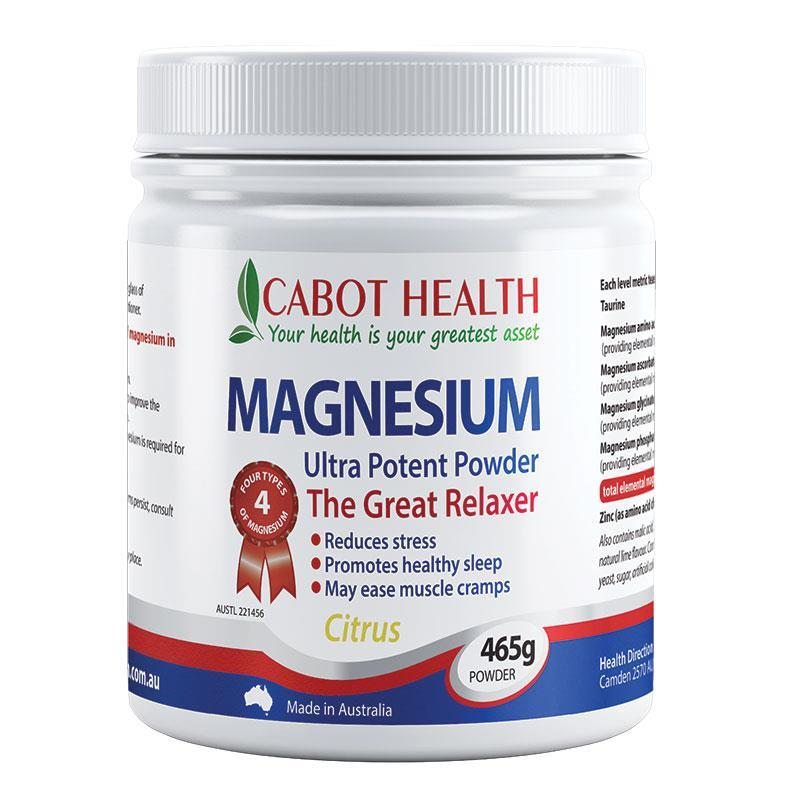 Cabot Health Magnesium Ultra Potent Powder Citrus 465g at Chemist Warehouse in Campbellfield, VIC | Tuggl
