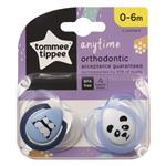 Tommee Tippee Closer To Nature Any Time Soothers 0-6 Months 2 Pack